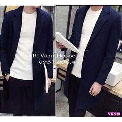 Áo khoác dạ nam form dài cao cấp VKN10 - V265