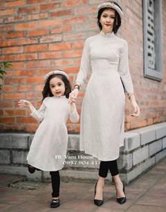 Set áo dài cách tân Mẹ và Bé VMB13 - V255