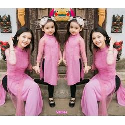 Set áo dài cách tân đính hạt Mẹ và Bé VMB14 - V290