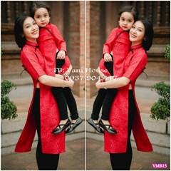 Set áo dài cách tân trung hoa Mẹ và Bé VMB15 - V255