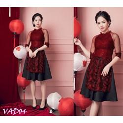 Set áo dài cách tân + Chân váy xòe  VAD04 - V325