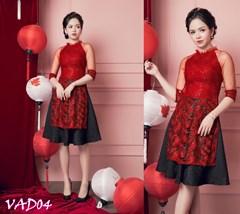Set áo dài cách tân + Chân váy xòe (hàng cao cấp) VAD04 - V325