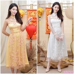 Set áo dài cách tân cúp ngực + Chân váy VAD16 - V295