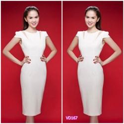 Đầm khoét 2 bên vai giống ngọc trinh  VD167 - V150