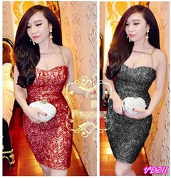 Đầm cúp ngực ánh kim đan xích giống bella VD211 - V170