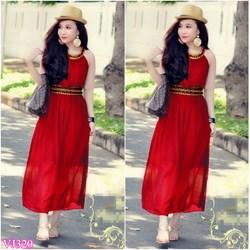 Đầm đỏ maxi hy lạp giống bella VD230 - V170