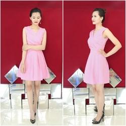 Đầm xòe xếp ly giống Bạch Nguyễn VD283 - V90