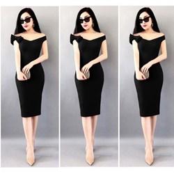 Đầm body đính vai nơ Bạch Nguyễn VD337 - V150
