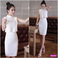 Đầm cổ trụ chân váy ôm VD503 - V140