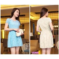 Đầm xòe Ren thanh nhã VD505 - V160