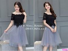Đầm xòe 2 tầng VD515 - V160