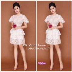 Đầm xòe ren thêu 2 tầng VD544 - V185