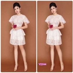 Đầm xòe ren thêu VD544 - V185