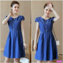 Đầm Jean 2 túi xinh xắn  VD549 - V145