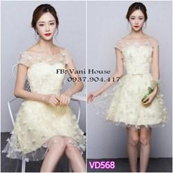 Đầm ren xèo hoa nổi cao cấp VD568 - V225