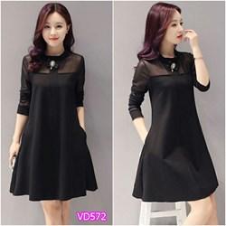 Đầm suông form dài VD572 - V145