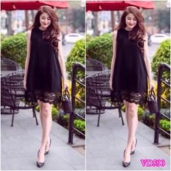 Đầm Suông phối chân ren VD590 - V145