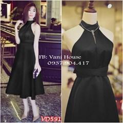 Đầm xòe yếm eo thắng lưng VD591 - V160