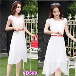 Đầm xoè tay ngắn xinh xắn VD599 - V160