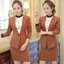 Set nguyên bộ áo vest xếp ly + váy ôm VD622 - V165