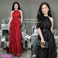 Đầm Maxi cổ yếm tầng bèo VD642 - V180