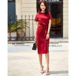 Đầm ôm xẻ tà kèm thắt lưng VD653 - V145