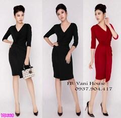 Đầm vạt chéo nhún eo VD668 - V155