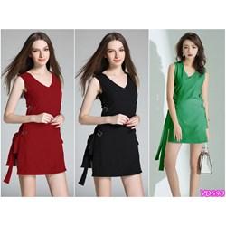 Đầm cổ tim dây eo + quần short VD690 - V150