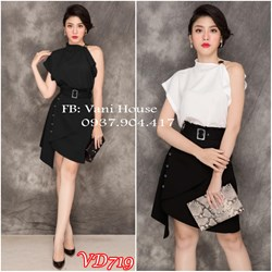 Set áo + chân váy cách điệu VD719 - V180