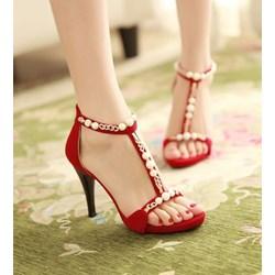 Giày cao gót đính ngọc trai VG01 - V75
