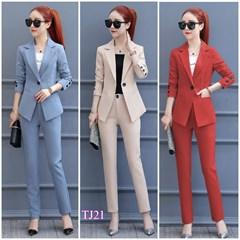 Set nguyên bộ áo Vest quần dài tay đính nút TJ21 - V245