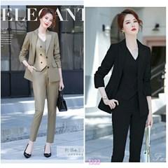 Set nguyên bộ áo Vest quần dài + Ghi Lê TJ33 - 465