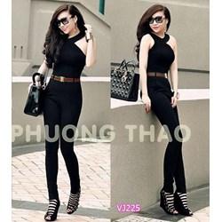 Jum dài đen cutout fake Gucci hàng thiết kế cao cấp VJ225 - V170