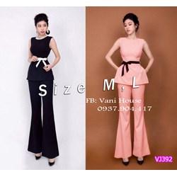 Set nguyên bộ quần dài áo sát nách dây nơ VJ392 - V175