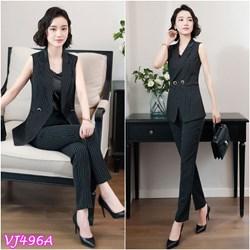 Set nguyên bộ áo vest cách điệu quần dài VJ496A - V195