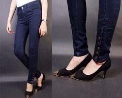 Quần jean lưng cao 5 nút bắp chân VQ49 - V75