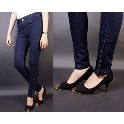 Quần jean lưng cao 5 nút bắp chân VQ49 - V120