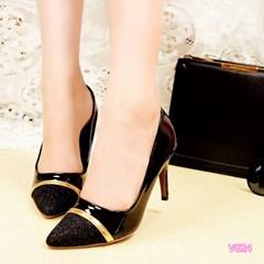 Giày cao gót mũi nhọn phối kim tuyến VG24 -V185