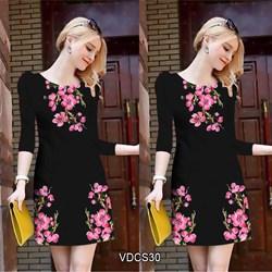 Đầm suông tay lở in hoa 3D VDCS30 - V185