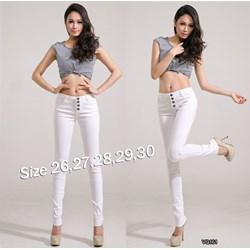 Quần jean trắng lưng cao 4 nút xinh xắn VQ161 - V150
