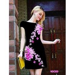 Đầm suông in hoa 3D VDCS33 - V180