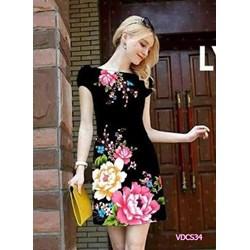 Đầm suông in hoa 3D VDCS34 - V180