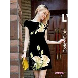 Đầm suông in hoa 3D VDCS36 - V180