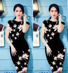 Đầm ôm in hoa 3D giống ngọc trinh