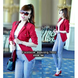 Áo khoác vest cổ phi 6 nút giống bella