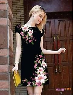Đầm suông in hoa 3D VDCS35 - V180